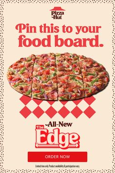 Need some inspiration for graduation food or Fourth of July party food? The Edge pizza is back with an all-new flavor. Get 16 slices of the best pizza loaded with pizza toppings to the edge on a crispy, thin crust. The sweet tomato sauce pulls it all together, and then it's finished with a sprinkling of garlic and herb seasoning. Need we say more? Try one of four new recipes for a limited time. Classic Zucchini Bread Recipe, Zucchini Bread Recipes, Low Carb Recipes, New Recipes, Cooking Recipes, Favorite Recipes, Graduation Food, Puff And Pass, Thin Crust