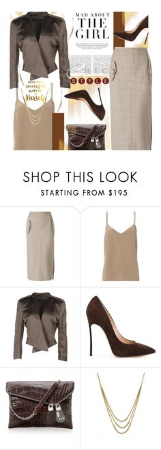 """Making a Statement at the Office"" by lavendergal ❤ liked on Polyvore featuring Kershaw, N°21, L'Agence, Haider Ackermann, Casadei, Henri Bendel and Bloomingdale's"