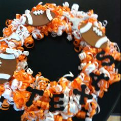Texas ribbon wreath