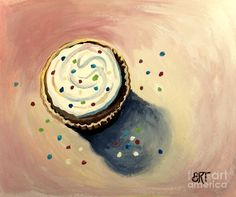 The Delightful Cupcake Painting - The Delightful Cupcake Fine Art Print Cupcake Painting, Cupcake Art, Fine Art Prints, Framed Prints, Canvas Prints, Flower Symbol, Symbol Logo, Greeting Cards, Iphone Cases