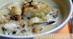Curry Roasted Cauliflower Soup