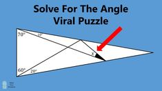 Insanely Hard Problem - Solve For The Angle Mental Math Tricks, Unbox Therapy, Physical Education Activities, Tim Peake, Maths Puzzles, Game Theory, Problem Solving, Science And Technology, Angles