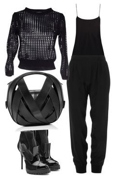 """""""Untitled #55"""" by patwillstyle on Polyvore featuring The Row, ATM by Anthony Thomas Melillo, KLING, Alexander McQueen and Perrin"""