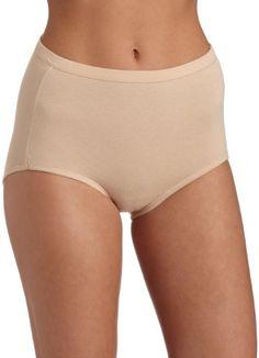 7fe372cdb4f52 Bali Women`s Fit Your Curves Cotton Stretch Brief  16.80 Shapewear