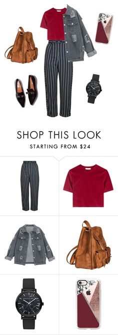 """""""Lecturing•"""" by ellyyulyantikoswara on Polyvore featuring Topshop, Yves Saint Laurent and Casetify"""