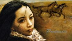 """On the High Plateau""""-Detail, by Shijun Munns oil on canvas, 2014 Oil Painters, First Story, We Are The World, Equine Art, Fine Art Gallery, Oil On Canvas, Mona Lisa, Original Art, Wall Art"""