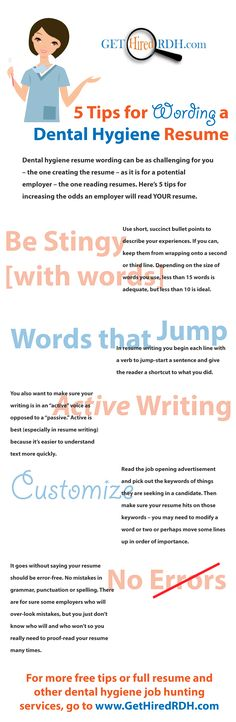 157 best RDH Job Hunting Tips images on Pinterest Hunting tips - get hired resume tips