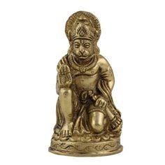 Amazon.com: Hindu God Hanuman Brass Sculpture in Standing Posture: Home & Kitchen