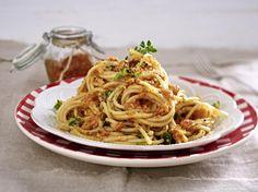 Spaghetti mit Paprika-Blitzpesto Rezept