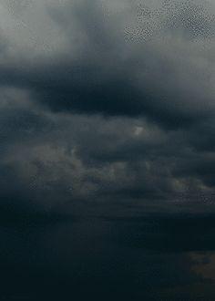 Bolt of lightning storm clouds animated lightning gif