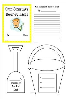 Our Summer Bucket List activity is perfect for the end of school year or to do over the summer. This can be used for goal setting, w. End Of School Year, Beginning Of School, School Holidays, Summer School, School Fun, School Days, End Of Year Activities, Writing Activities, Classroom Activities