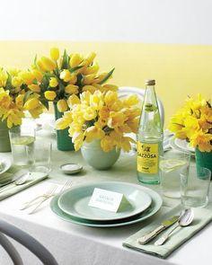martha stewart wedding - lemon and mint wedding colours