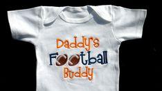 Football Onesie Daddy's Football Buddy Sports Onesie by LilMamas, $16.90