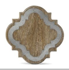 Ogee-G Wood and Metal Inlay Trivet