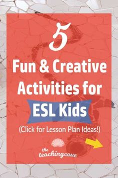 5 Fun & Creative English Activities for Kids (ESL Lessons) – The Teaching Cove – Grammar English Activities For Kids, Learning English For Kids, English Lessons For Kids, Teaching English Online, Esl Lessons, Kids English, Teaching Activities, Learn English, Teaching Kids