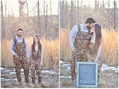 Virginia Wedding Photographer: Megan Vaughan Photography - Cute Hunting / Camo Engagement session