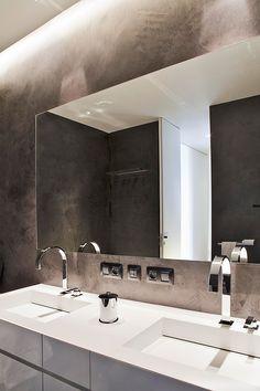 Bathroom Furniture : Apartment in Monte-Carlo -Read More – Bathroom Furniture, Bathroom Interior, Bathroom Inspiration, Interior Inspiration, Open Bathroom, Tadelakt, Bathroom Design Luxury, Elegant Home Decor, Hotel Interiors
