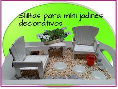 Sillitas para mini jardin - Decora tu casa . recicla