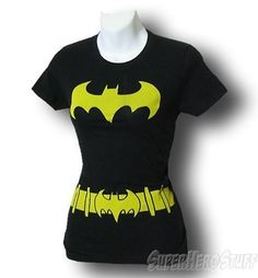 Batgirl Juniors Symbol Costume T-Shirt