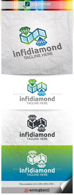 Infinity Diamond — Vector EPS #objects #technology • Available here → https://graphicriver.net/item/infinity-diamond-/9968274?ref=pxcr