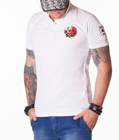 Dsquared Tricouri Polo - Caten Bros tricou polo alb