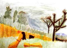 Pintura a l'aiguada d'alumna de 4t curs. Painting, Color, Art, Pintura, Art Background, Painting Art, Paintings, Kunst, Colour