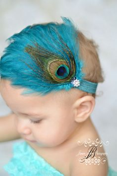 Boutique Feather Fascinator with Peacock Accent by Boutique29, $18.00