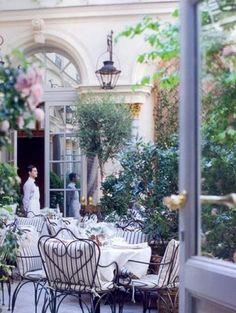 ralph lauren, pari, patio, lunch, hotel, tea, place, garden, courtyard