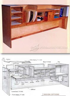 Desktop Organizer - Furniture Plans and Projects | WoodArchivist.com