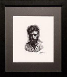 Massimo Capogna - Artist: Portrait - Roller Tip Pen 0.5mm.Alla prima.