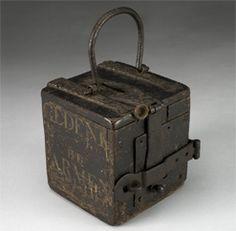 Wooden Alms Box, Netherlands, 1601-1800