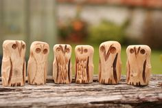 Cornish Hand Carved Hawthorn Wood Owl