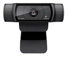 Discounted Logitech HD Pro Webcam C920, Widescreen Video Calling and Recording, 1080p Camera, Desktop or Laptop Webcam