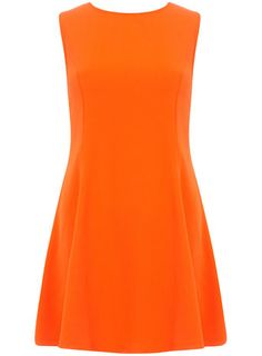 Orange seamless skater dress