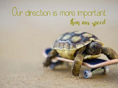 Our direction is more important than our speed. Larry R. Lawrence
