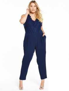 072055c6bb0be ...  fashion  clothing  shoes  accessories  womensclothing   jumpsuitsrompers (ebay link). See more. V by Very Lace Top Tapered Leg  Jumpsuit Navy Size UK 16 ...