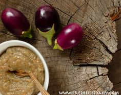 Eggplant puree (freeze to use in recipes during off season)