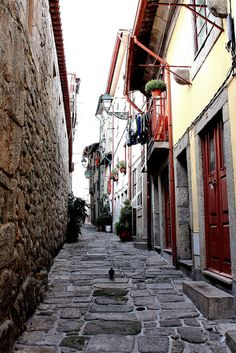 The narrow authentic streets of old Porto, Portugal. Spain And Portugal, Portugal Travel, Places To Travel, Places To See, Camino Portuguese, Porto City, Europe Holidays, Douro, Old Street