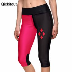 S-XL New Women's 7 point pants women leggings Red&black geometric diamond digital print women high waist Side pocket phone pants  Only $19.99 => Save up to 60% and Free Shipping => Order Now!  #print leggings outfit #dress #Fashion #girl #Digital #sport #yoga