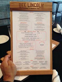 Via Yelp--Solid Hickory single panel menu.