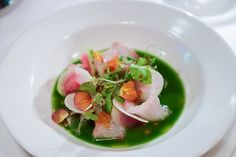Cobia crudo at The Cypress Room