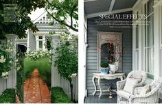 Right photo: Nice timber details on verandah. Good paint colours and decorating. Possible colour scheme for studio exterior? House Design, Paint Colors For Home, Outdoor Rooms, House Exterior, Exterior House Colors, Roof Colors, Exterior Design, Weatherboard House, Edwardian House