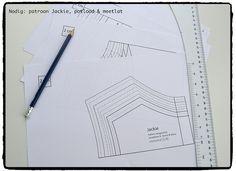 Hoe teken je een patroon 1 à 2 maten groter (of kleiner)?