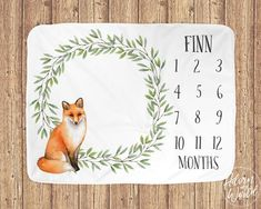 Fox Milestone Blanket- Find The Best Product For Baby Photo - Baby Guide Baby Shower Presents, Baby Presents, Best Baby Shower Gifts, Baby Milestone Blanket, Milestone Blankets, Cute Baby Gifts, New Baby Gifts, Baby Monthly Milestones, Monthly Baby