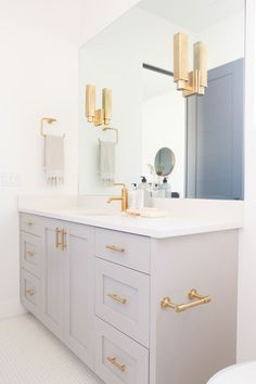 Hudson Valley Lighting interviews Salt Box Collective about their stunningly beautiful, contemporary St. George parade home in Utah. Bathroom Goals, Gold Bathroom, Modern Bathroom, Small Bathroom, Bathroom Ideas, Guest Bathrooms, Upstairs Bathrooms, Bathroom Renos, Girl Bathrooms