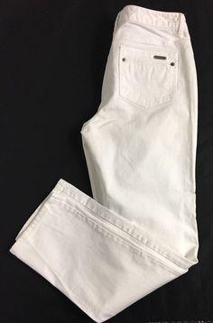 KENNETH COLE Womens Slim Straight Leg Jeans Size 8 / Stretch Cotton Denim Pants  #KennethCole #SlimStraightLeg