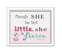 Hippo Ballerina, Though She Be But little, She is Fierce - William Shakespeare Quote Rustic Baby Nurseries, Baby Nursery Decor, Girl Nursery, Ballerina Art, Little Ballerina, Shakespeare Quotes, William Shakespeare, Aubrey Rose, She Is Fierce