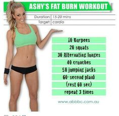 Cardio Fat Burning Workout