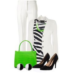 Neon Bag for Spring Set 3 by penny-martin on Polyvore featuring Amanda Wakeley, Oui, Victoria Beckham, Lipsy, Nancy Gonzalez and Antica Murrina