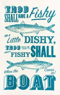 Sea Shanty tea towel - Designer tea towels from ToDryFor.com